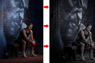 Tutorial on How To Create Detailed Grungy Athlete Portraits In Post Production