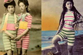 Rare Vintage Swimsuit Photos Of Geisha