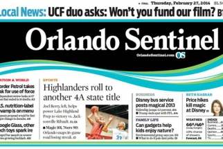 "Orlando Sentinel Cuts Photo Staff, Shifts to ""Videocentric"" Approach"