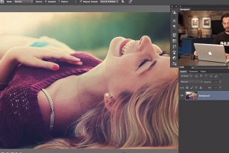 Aaron Nace Teaches us How To Remove A Model's Bra . . . In Photoshop