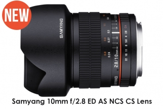 New Samyang 10mm f/2.8 ED AS NCS CS Lens