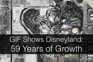 Then and Now: Bird's Eye View of Disneyland from 1955 and 2014