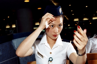 Brian Finke's 'Flight Attendants' Series Alludes to Romance of Early Air Travel