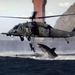 shark helicopter real fake