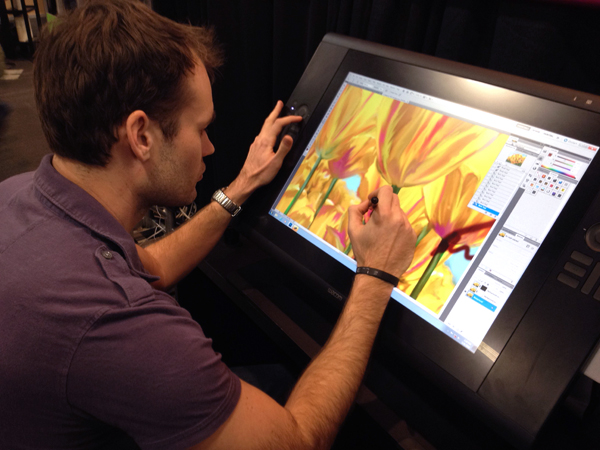 Lee Using Cintiq