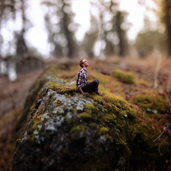 Photographer Joel Robison expressed his love with books in an unusual photoset