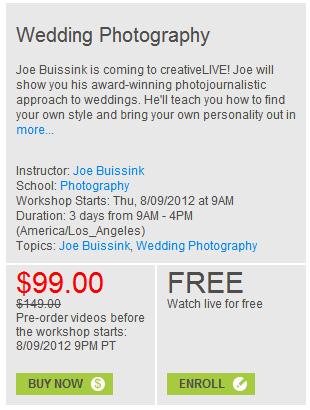 Joe buissink wedding contract