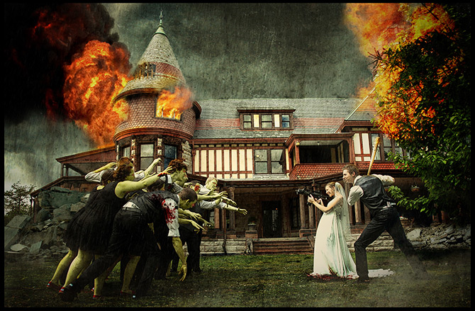 Using Photoshop To Turn A Wedding Day Into A Zombie Apocalypse