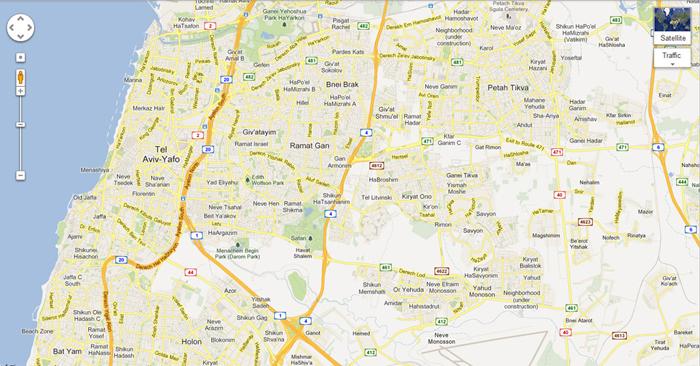 Google Maps - Israel
