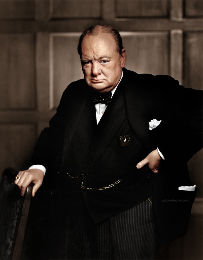 Winston Churchill, 1941 by Yousuf Karsh