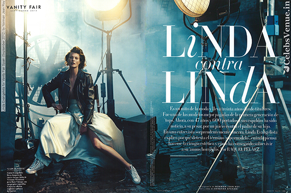 Linda Evangelista for Vanity Fair Spain (September 2012) by Norm