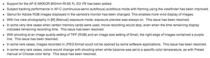 D800:D800E Firmware Update