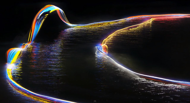 wakeboard light painting led 2