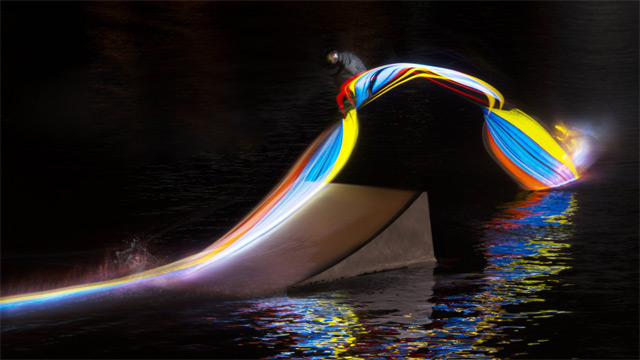 wakeboard light painting led 3