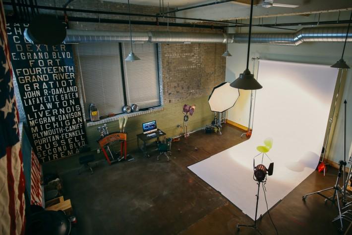 Matt's studio in Detroit, We Are Vacancy