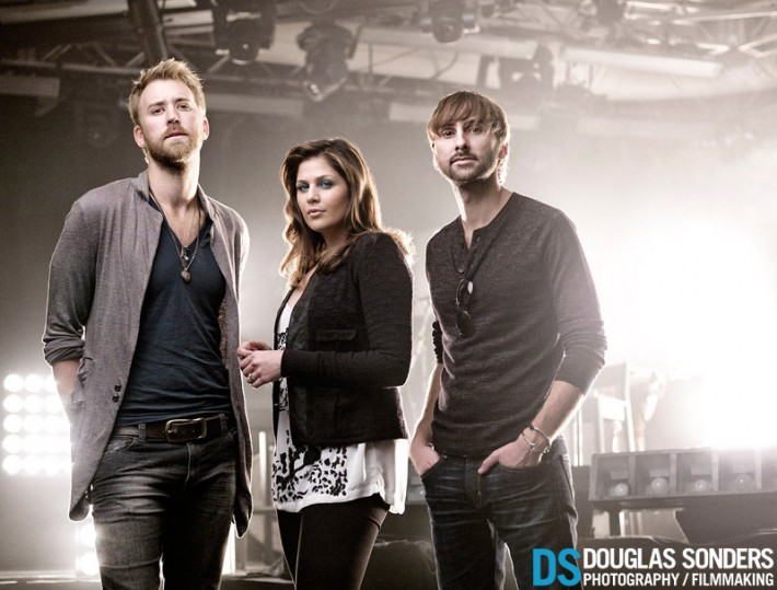 Lady Antebellum: Sweet people, but only 10 minutes for 3 separate locations indoors and outside.