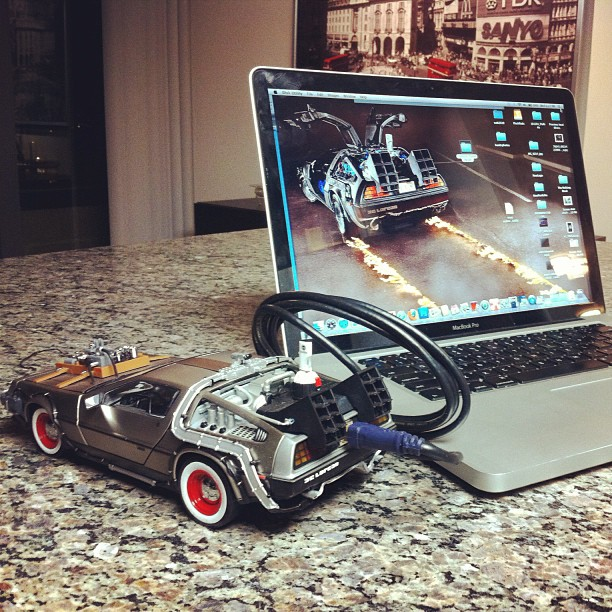 The Back To The Future 3 Delorean drive I use at the office. Matches the photoshoot I did with the real car well!