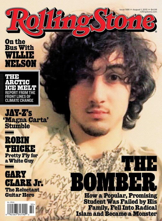 Image: Handout image of accused Boston bomber Dzhokhar Tsarnaev on the cover of August 1 issue of Rolling Stone magazine