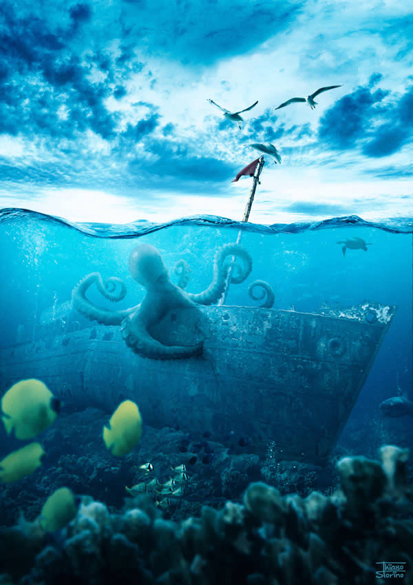final composite underwater scene how to make a composite fstoppers
