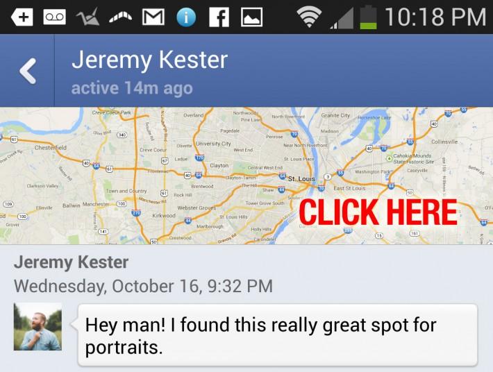 Fstoppers Facebook Messenger Sharing Location
