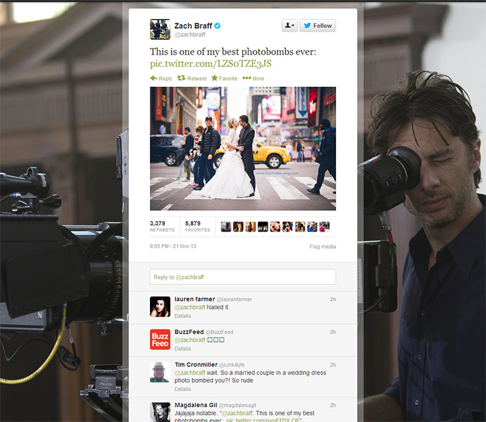 Fstoppers Zach Braff Photobomb