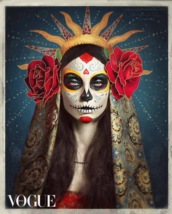 Sugar Skull by Julia Kuzmenko Mckim