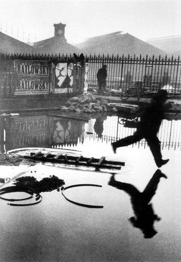 """""""Behind Gare Saint Lazare"""" - Credit Henri Cartier-Bresson"""