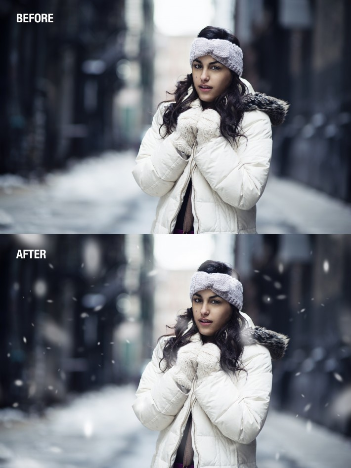 HOW TO ADD SNOW FSTOPPERS PHOTOSHOP DANI DIAMOND