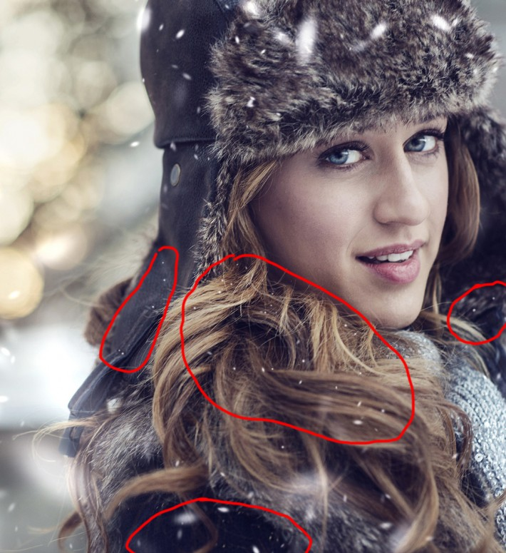 HOW TO SNOW HAIR PHOTOSHOP ADD