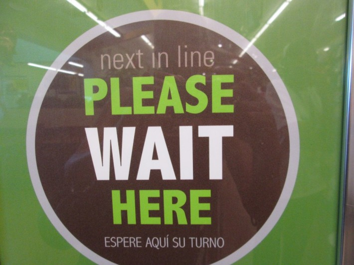"""Poor people encounter signs like this every day. They wait in line to hand in paperwork for assistance. They wait in line at food banks, at soup kitchens. Often it feels like too much of my life is spent just waiting."" - Victoria Asalp"