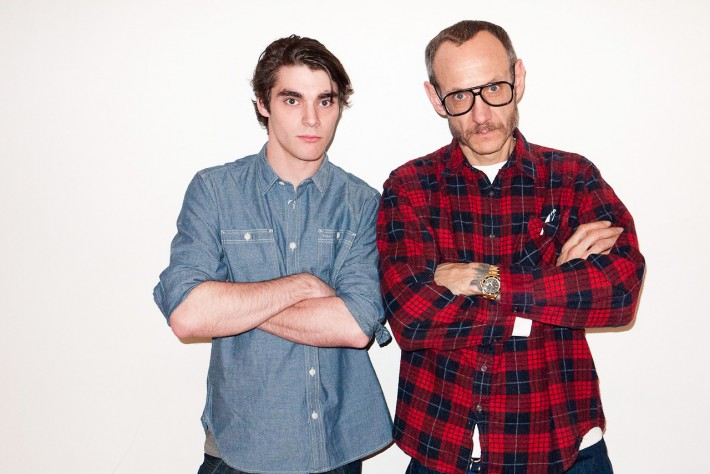 Breaking Bad star RJ Mitte posing with Terry Richardson