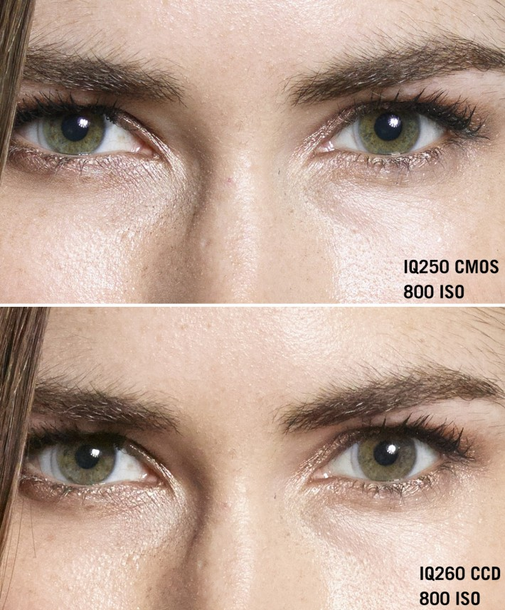 CMOS 250 top vs CCD 260 bottom at 800 ISO