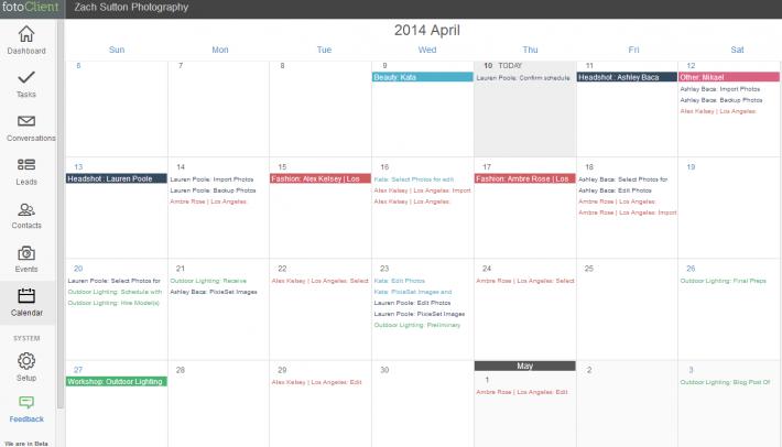 FotoClient-Calendar-Example