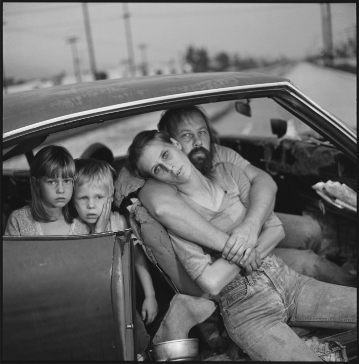Image name: The Damm Family in Their Car, Los Angeles, California, USA 1987 Copyright: @Mary Ellen Mark