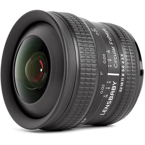 lensbaby 5 8mm f3.5 circular fisheye lens new