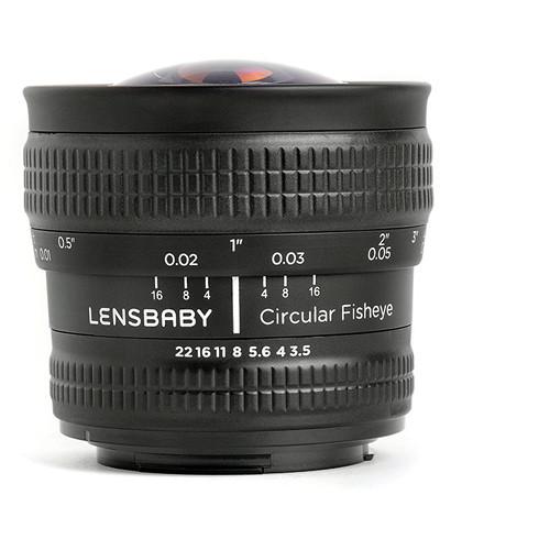 lensbaby fisheye lens side view