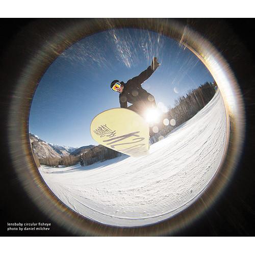 lensbaby fisheye photo by daniel milchev snowbarding action