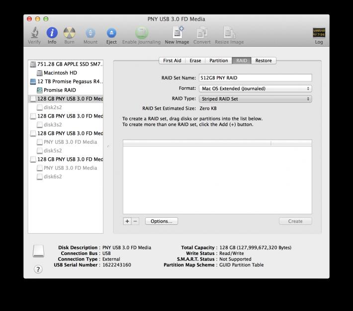 USB Key RAID Disk Utility 2