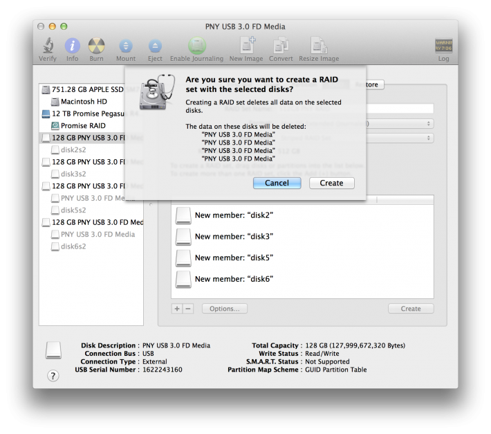 USB Key RAID Disk Utility 4
