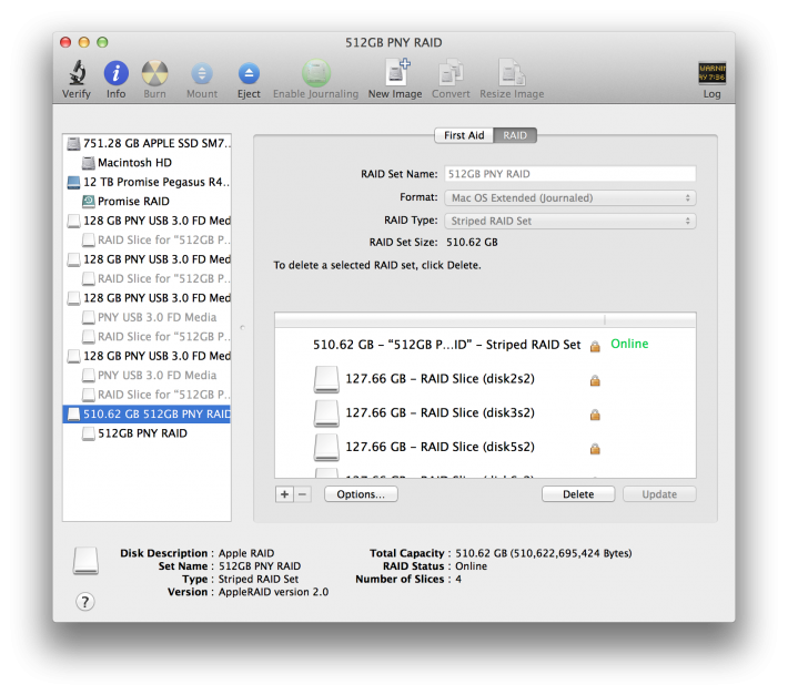 USB Key RAID Disk Utility 5